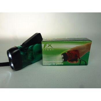 FX LED Dynamo Taschenlampe mit 2 LEDs