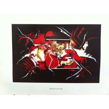 Öl Gemälde Menge: ca. 3150 Stk  5 Motive  Masse: 78 x 80 cm