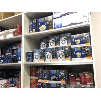 Weihnachtsware Weihnachten LED Lichterketten und Kugeln Posten