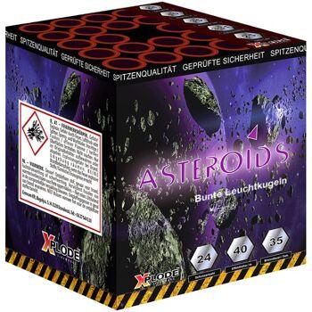 X Plode Batteriefeuerwerk Asteroids
