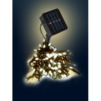 150er LED Solar Lichterkette Solarkette innen/außen warmweiss