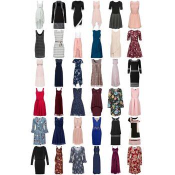 Damen Kleider Mix - Shirtkleid Sommerkleid Abendkleid Maxikleid Jerseykleid Spitzenkleid Strandkleid