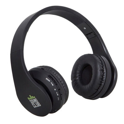 GoClever Sound Club Urban Bluetooth Over-Ear Headphone Kopfhörer mit Super Bass SD Radio faltbar Musik Radio FM UKW Bluetooth Freisprechfunktion microSD Karte Kartenleser