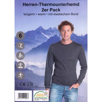 28-210063, Herren Thermo Unterhemd 1/1, 2er Pack, Gr. S- XXL