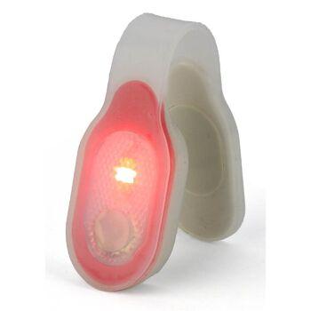 28-267365, LED Magnetcliplampe 3 Leuchtmodi, in flexibler Silikonhülle, für Tiere, Taschen, Rucksack, usw