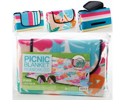 28-535815, Picknickdecke 130 x 150 cm, isolierte Unterseite, Camping, Picknick, Outdoor Decke,