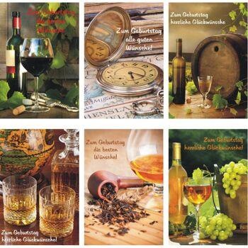 28-552029, Karten Geburtstag Weinmotive, Geschenkkarten, Geburtstagskarten, Glückwunschkarten