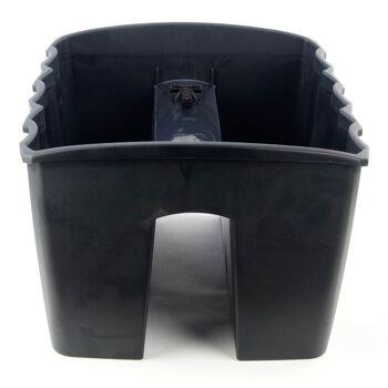 28-744022, Geländer-Blumenkasten, schwarz 39,5 x 28 cm, 2 getrennte Kammern, Pflanzkasten+++++++
