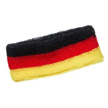 17-95538, Stirnband Deutschland, BRD Farben, Flagge, Fanmile, Event, Party, usw.