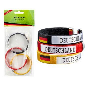 17-95945, Armband Deutschland 3er Set, Party, Event, Fete, Fussball, Stadion, usw