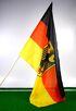 17-14703, Stabfahne Deutschland 60x90cm mit Adler, an 110 cm Holzstab, BRD Flagge, Fanmile, usw.