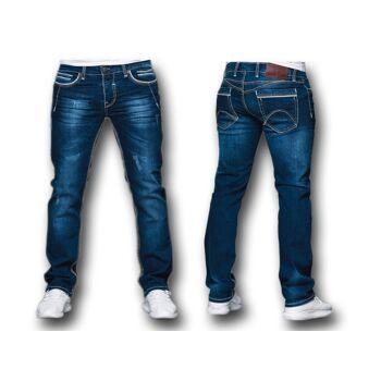 Modische Herren Jeanshose Hosen Jeans Denim Washed Vintage Used-Look Regular-Fit - 15,90 Euro