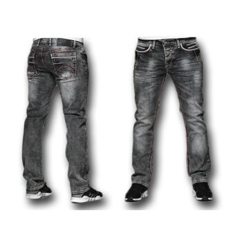 Modische Herren Jeanshose Hosen Jeans Denim Washed Vintage Used-Look Regular-Fit - 15,90 Euro