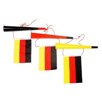 17-60718, Fan Tröte 35 cm, mit Fahne