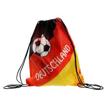 17-60790, Matchbeutel Deutschland 35x42cm, Sportbeutel, Sporttasche, Turnbeutel, BRD Farben, Fahne, Flagge, Party, Event, Fanmile