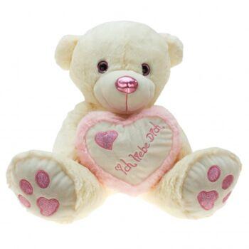 10-137300, Plüsch Bär 30 cm sitzend, mit besticktem Herz mit