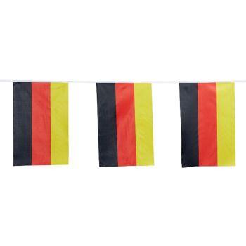 17-29772, Fahnengirlande XXL Deutschland, 800 cm lang, Fanartikel, Party, Event, usw