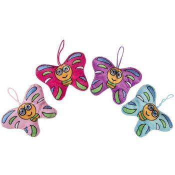 21-1843, Plüsch Schmetterling mit Gesicht, Plüschtier
