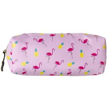 21-6554, Schlamper Flamingo, Federmappe, Stiftetasche, Stifttasche