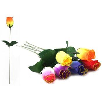 Rosenknospe 33 cm, mit Goldstaubrand, Seidenblume, Kunstblume, Stoffblume, Motopartys, Hochzeiten, Valentinstag, Muttertag ++++++++++