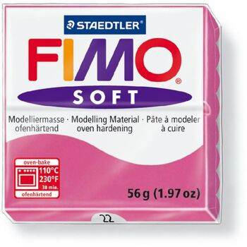 FIMO, Modelliermasse, Knete himbeere soft normal