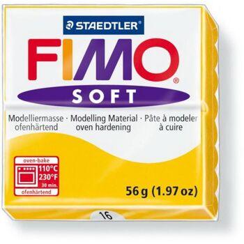 FIMO, Modelliermasse, Knete sonnengelb soft normal