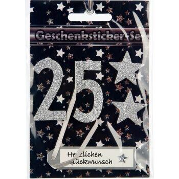 28-02763, Zahlen- und Jubiläumssticker, Geschenkaufkleber mit Zahlen zu verschiedenen Jubiläen, zur Dekoration usw++++++