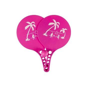 21-5126, Beachballspiel Set 3-teilig, 2 Schläger 33 cm, mit Ball