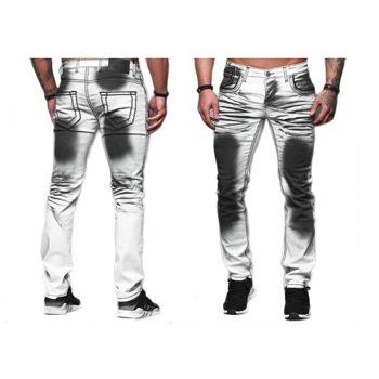 Modische Herren Jeanshose Vintage Used-Look Regular-Fit Hosen Jeans Denim Washed - 15,90 Euro
