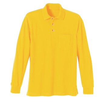 Gelbe Herren langarm-Polo-T-Shirts