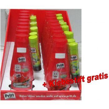 12-413695, Pritt Schulkleber 100g in Flasche Alleskleber mit GRATIS Klebestift