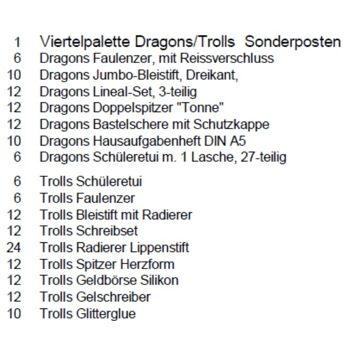 12-51033, Dragons/Trolls Display 174-teilig - SONDERPOSTEN++++++++