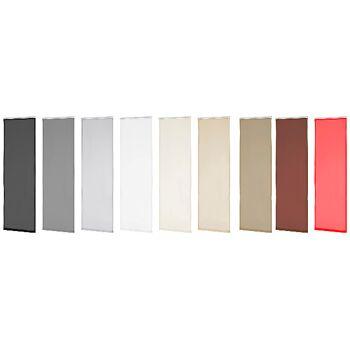 Flächenvorhang Schiebegardine Schiebevorhang Gardine Vorhang transparent in 9 Farben