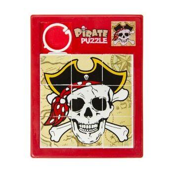 21-7083, Schiebepuzzle Pirat, 11,5 x 9 cm