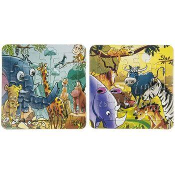 21-7362, Puzzle Dschungel Tiere, Gesellschaftsspiel, Geschicklichkeitsspiel, Familienspiel