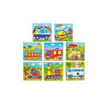 21-8710, Holz Puzzle Fahrzeuge, Polizei, Feuerwehr, Schiff, Autos, Einsatzfahrzeuge, usw++++++++++++