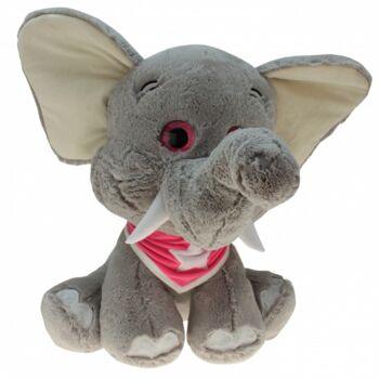 10-185890, Plüsch Elefant 80 cm mit Halstuch, Plüschelefant, Plüschtier