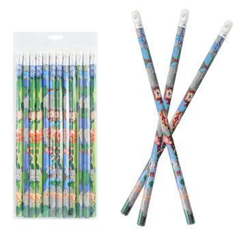 27-80224, Bleistift Wildtiere 12er mit Radiergummi