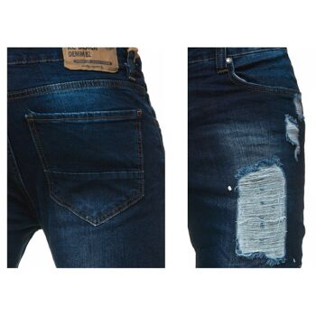 Modische Herren Jeanshose Vintage Destroyed-Look Slim-Fit Hosen Jeans Denim Washed - 14,90 Euro