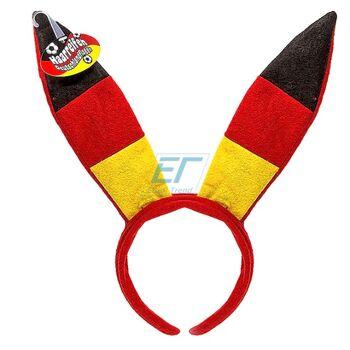 Plüsch-Haarfeifen Bunny Deutschland-Flagge
