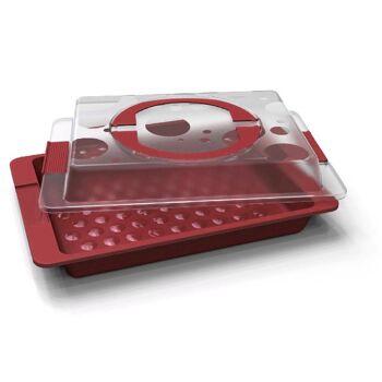 12-802274, Blechkuchenbox 43,5 x 29,5 cm, mit Haube, schützt den Kuchen, die Torte, ideal zum transportieren