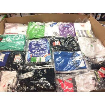 Sportartikel gemischt, Fußballschuhe, Marken T-Shirts, Trainingsanzüge -  Sportware - Mischpalette,
