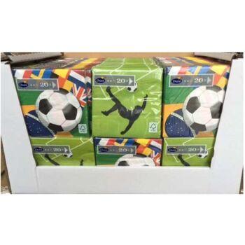 12-167100, DUNI Fussballmotive Servietten 33x33 3-lagig