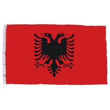 27-83818, Flagge Albanien 150 x 90 cm, Fahne zum Aufhängen