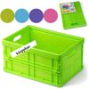 28-008493, Stapelbox klappbar, 23,5 x 17 x 12,5 cm, Aufbewahrungsbox, Klappbox bei Nichtgebrauch einfach zu verstauen