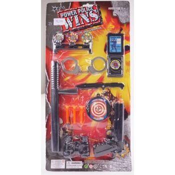 27-46173, Polizeikarte 58 cm, mit Pistole und reichlich Zubehör