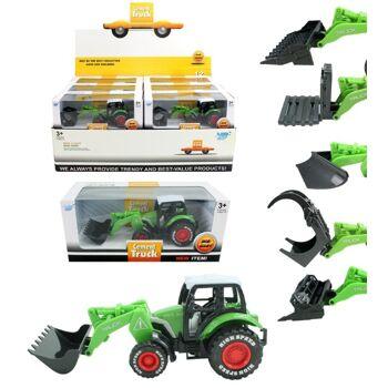 27-47475, Traktor METALL mit Antrieb, mit Schaufel, Farmertraktor
