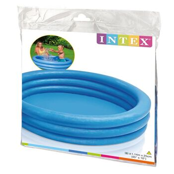 12-0340075, KINDER PLANSCHBECKEN 114 x 25 cm, Kinderpool, Swimmingpool, 3-Ring-Pool
