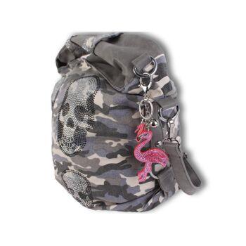 Trendige Accessoires Bunte Taschenanhänger Schlüsselanhänger Taschen Deko Anhänger Einhorn Flamingo Strass Steine - 2,90 Euro