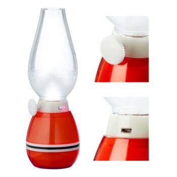 17-63233, LED Retro Lampe 21 cm, stufenlos dimmbar, Ein-/Ausblasfunktion, inkl. Micro USB Ladekabel